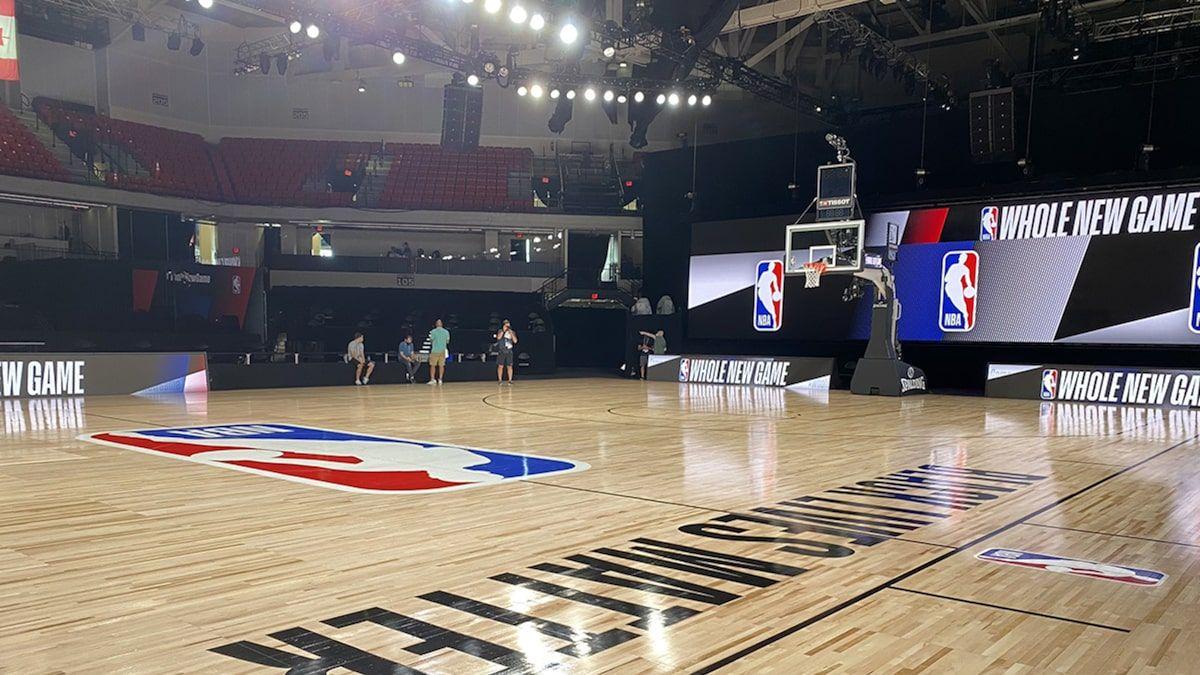 NBA's Bubble Court Shows 'Black Lives Matter' Paint Job