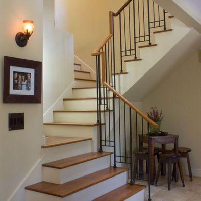 Split Stair With Central Landing Switchback Stairs Design Pictures Remodel Decor And Ideas Stairs Design Staircase Design Stairs
