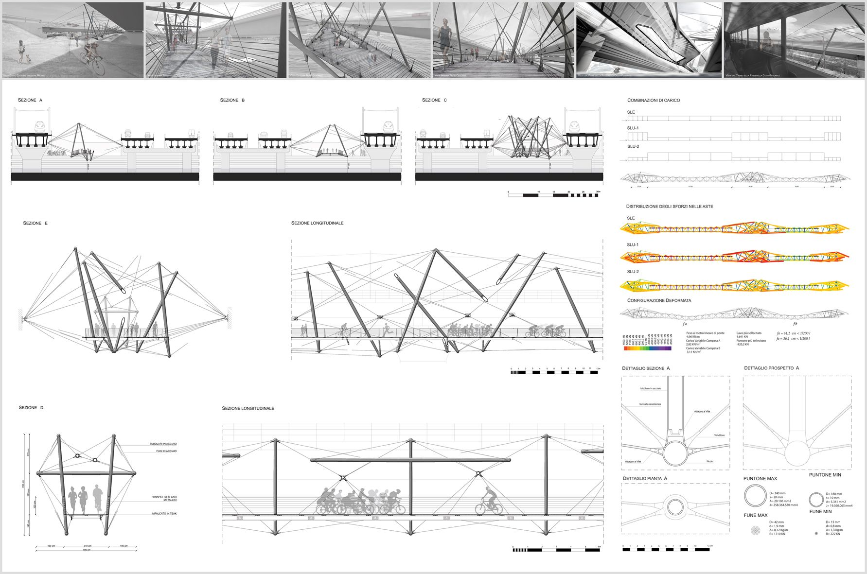 Suspended Tensegrity Bridge Bridge Architectural Drawings And