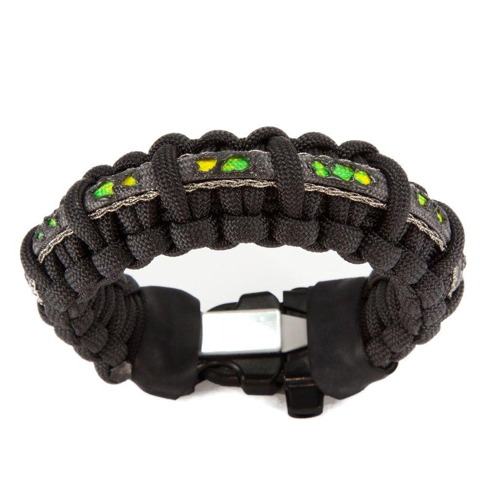 Toxic Biohazard Theme Zombie Survival Bracelet With Wire Saw And