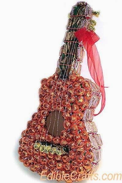 Eu Amo Artesanato: Guitarra de chocolate