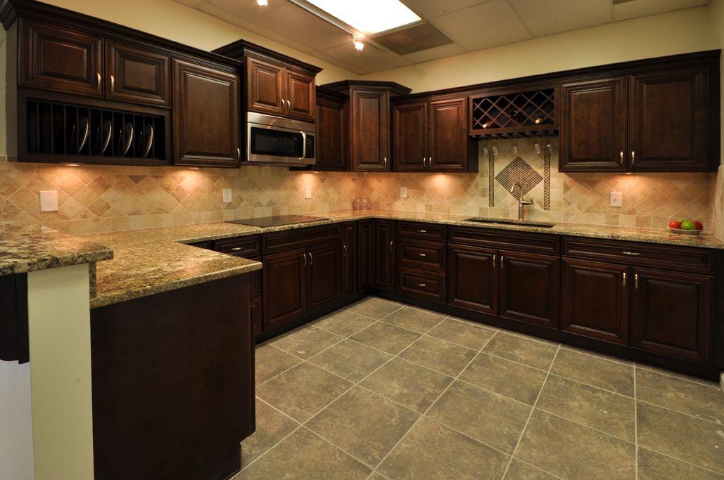 cream cabinets with chocolate glaze | cabinet styles - more cabinets