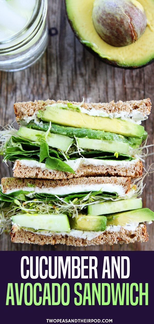 Cucumber and Avocado Sandwich images