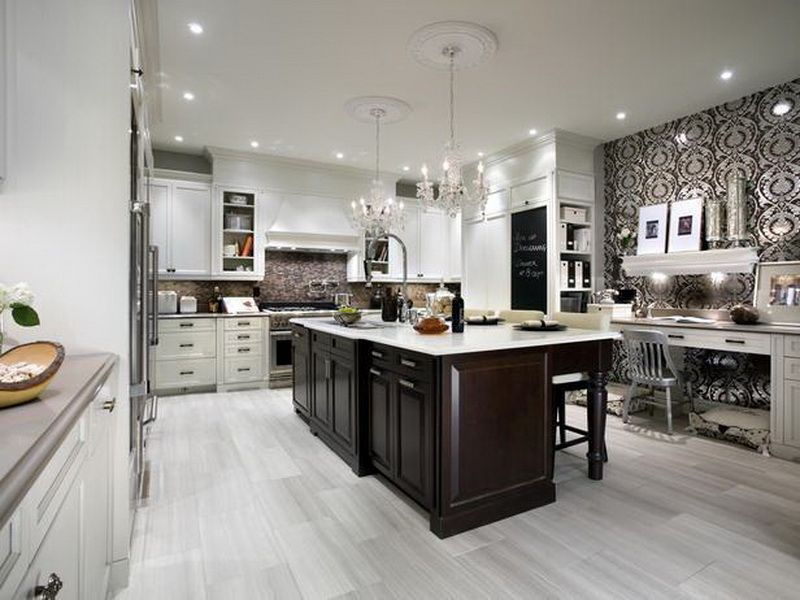 Designer Kitchens With 2 Colored Cabinets  Google Search Delectable 2 Wall Kitchen Designs 2018