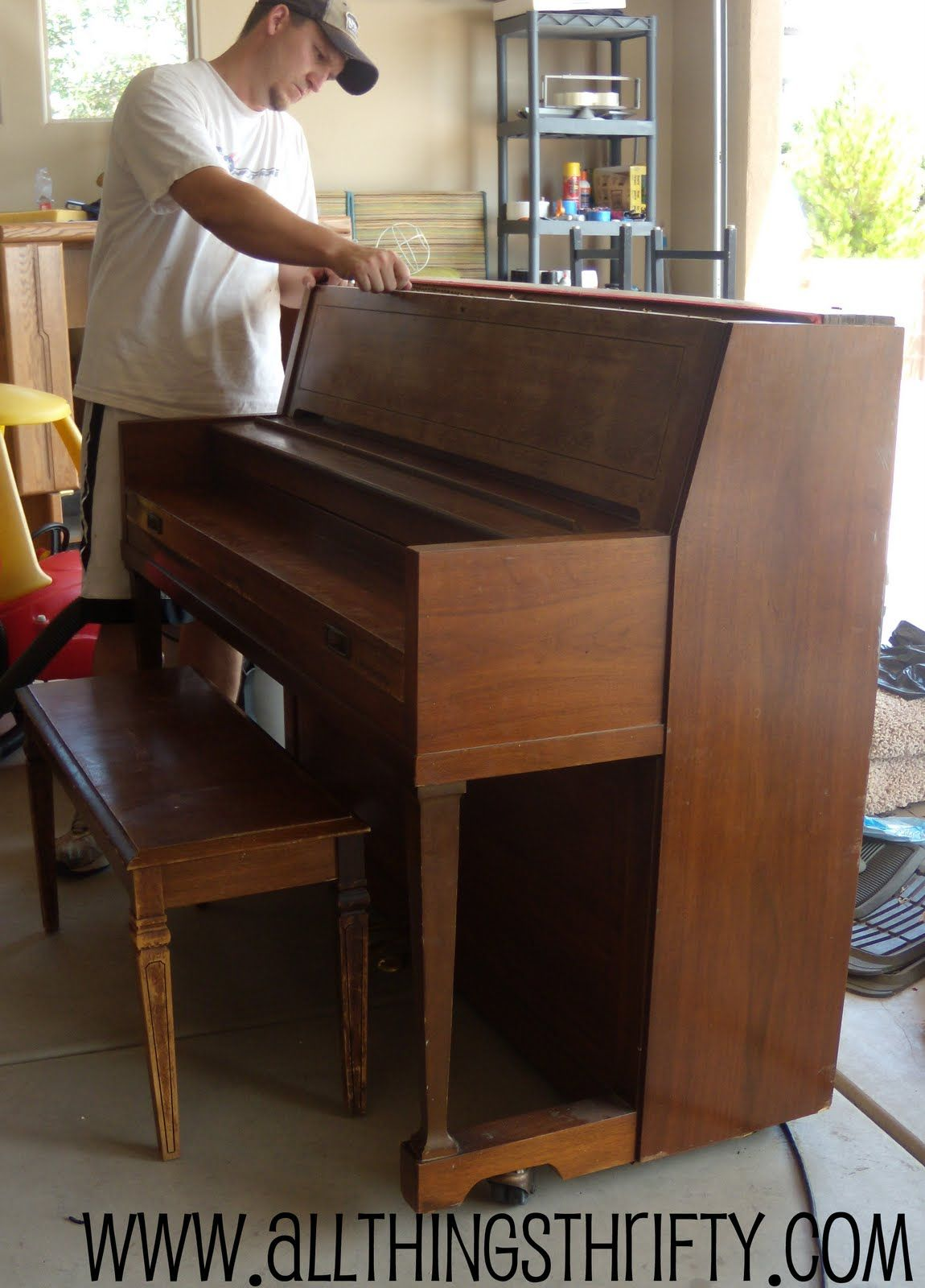 Decorating with a piano - All Things Thrifty Home Accessories And Decor Piano Refinishing 101