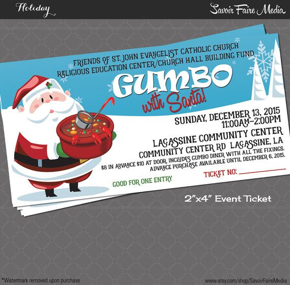 Spaghetti Dinner Event Ticket With Santa  By Savoirfairemedia