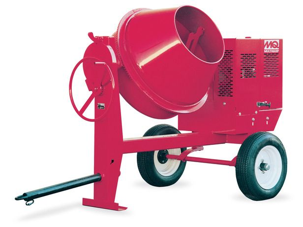 How To Use A Mortar Mixer To Mix Concrete Concrete Mixers Cement Mixers Steel Drum