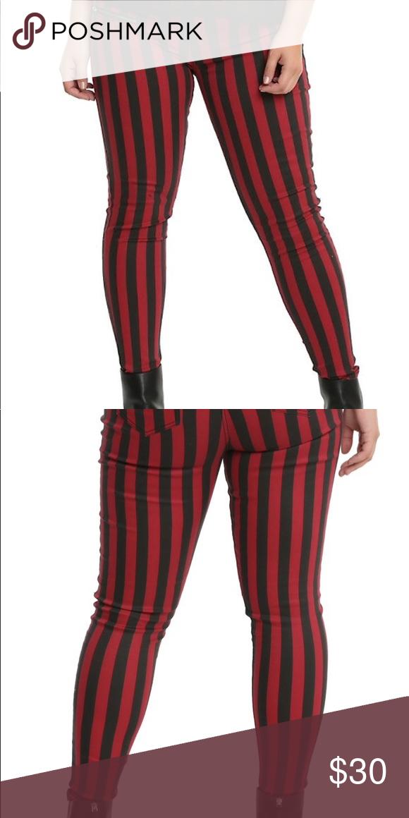 e2b564ed55d Hot Topic BlackHeart red Black Striped Pants Meet your new favorite jeans  from Blackheart!