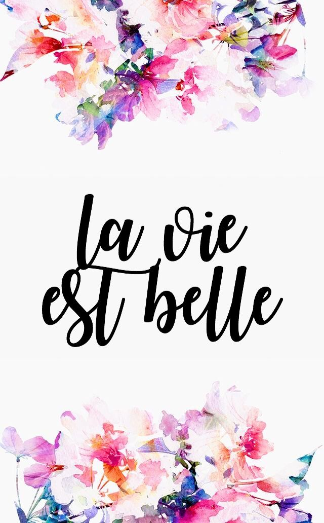 La Vie Est Belle Life Is Beautiful Bordado En 2019 Fond Ecran