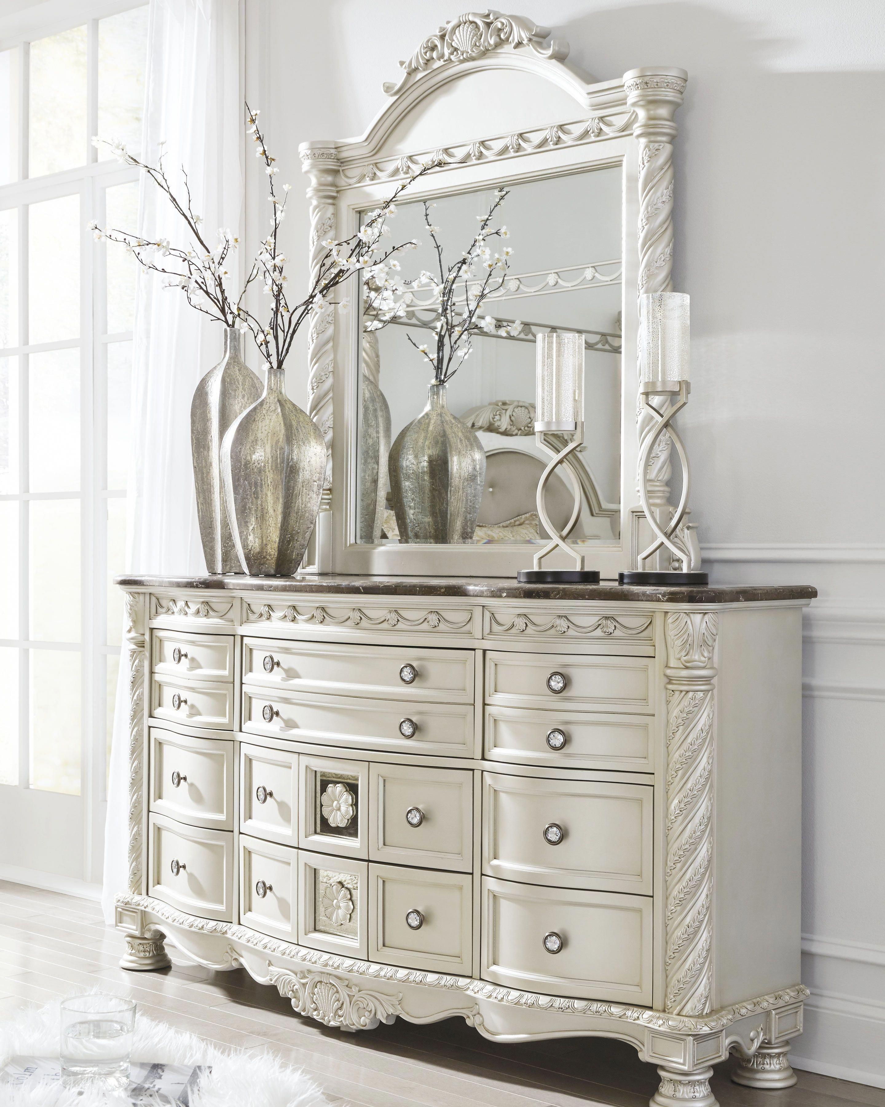 Cassimore Dresser And Mirror Pearl Silver Dark Brown Shabbychicbedrooms Shabby Chic Dresser Shabby Chic Room Shabby Chic Bedrooms
