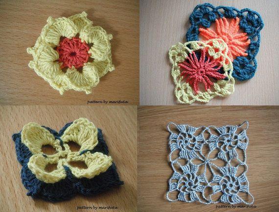 4 Crochet Motifs Pattern Pdf By Marifu6a By Crochettutorial 050