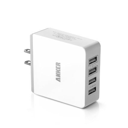 Amazon Com Anker 36w 4 Port Usb Wall Charger Travel Power Adapter For Iphone 5s 5c 5 Ipad Air Mini Galaxy S5 S Usb Wall Charger Wall Charger Travel Adapter
