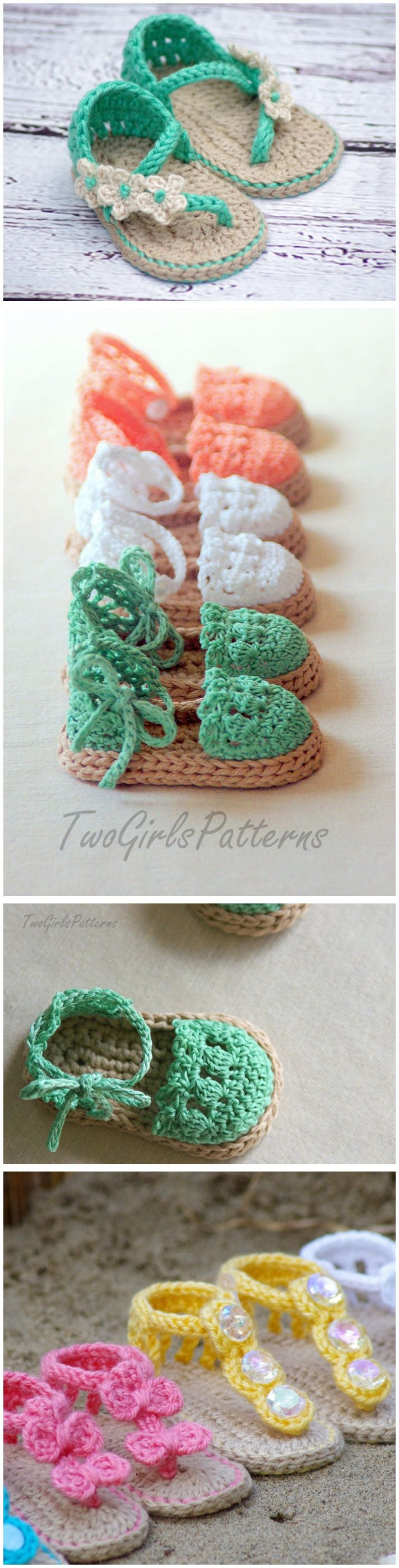 Crochet baby flip flop sandals with patterns baby sandals baby sandals crochet pattern more bankloansurffo Image collections