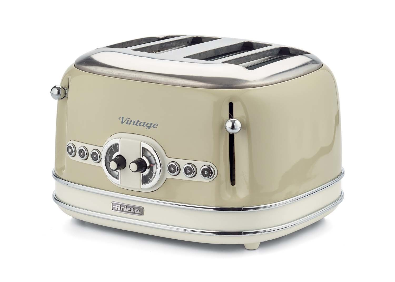 Buy Ariete Vintage 156 Retro 4 Slice Toaster Beige At Bestbuycyprus Com For 95 00 With Free Delivery Utensilios Utensilios De Cocina