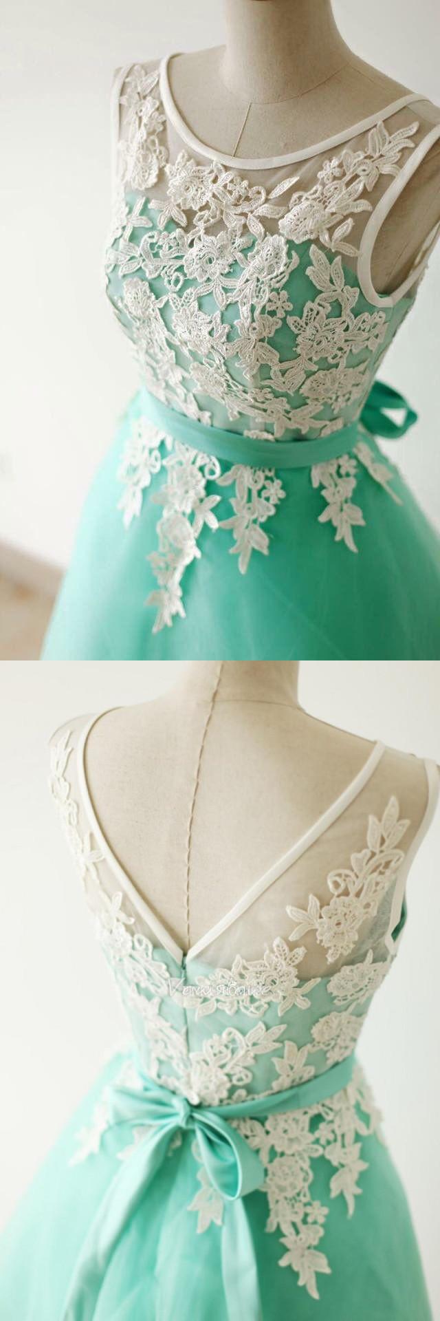 homecoming dress bridesmaid dress mint green short