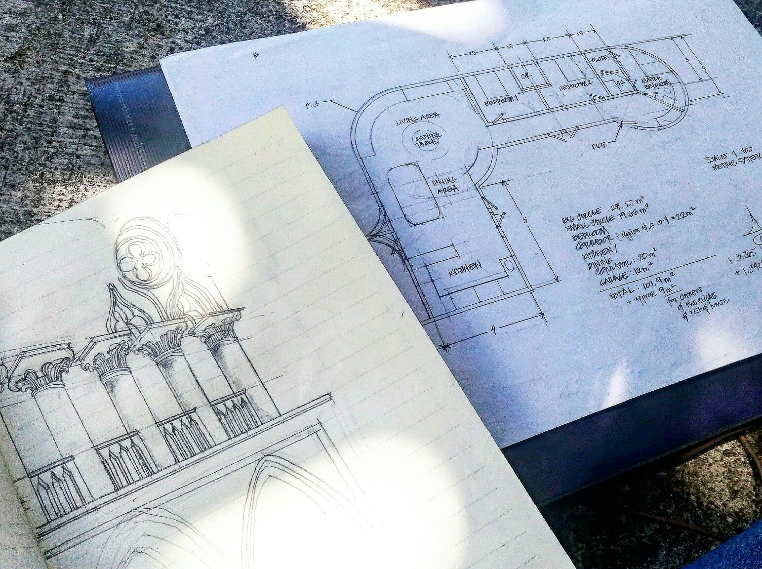 More to do with architecture~ My project for drafting class.