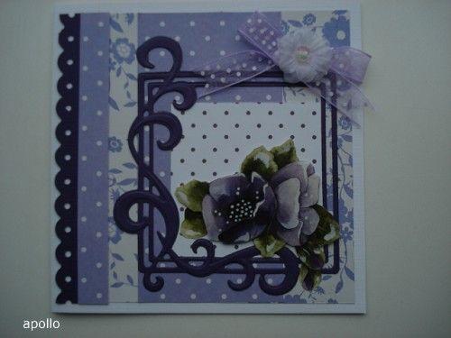 Voorbeeldkaart - lila - Categorie: Scrapkaarten - Hobbyjournaal uw hobby website