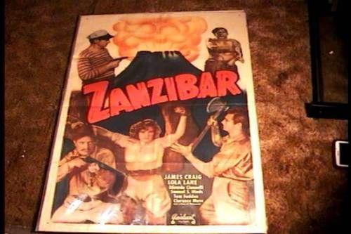ZANZIBAR-ORIG-MOVIE-POSTER-R50-LOLA-LANE-WOMAN-IN-BONDAGE-VOODOO-GREAT-GRAPHICS