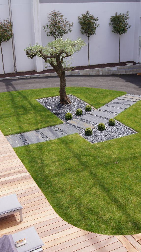 Allee Ardoise Et Galets Lanshaftnyj Dizajn Jardins Allees Jardin Et Amenagement Jardin