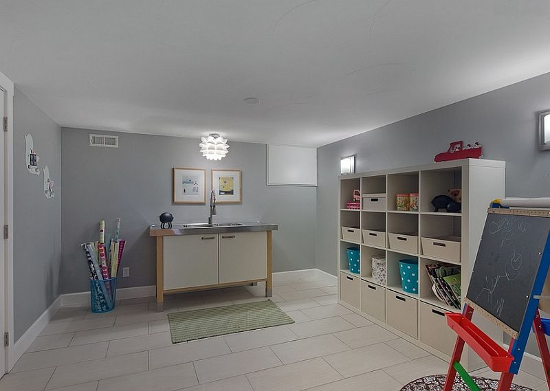 Playroom Basement Ideas Part - 25: Sketch Of Transforming Your Basement Room Into Kids Playroom? Why Not!