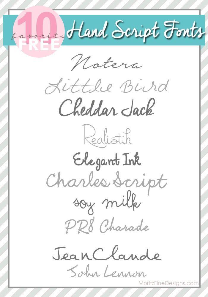 Pretty Hand Script Cursive Fonts Wedding Invitations Crafts Free