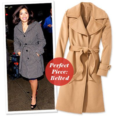 America Ferrera - Find Your Most Flattering Coat - Curvy... I need to pull out my trench coat!