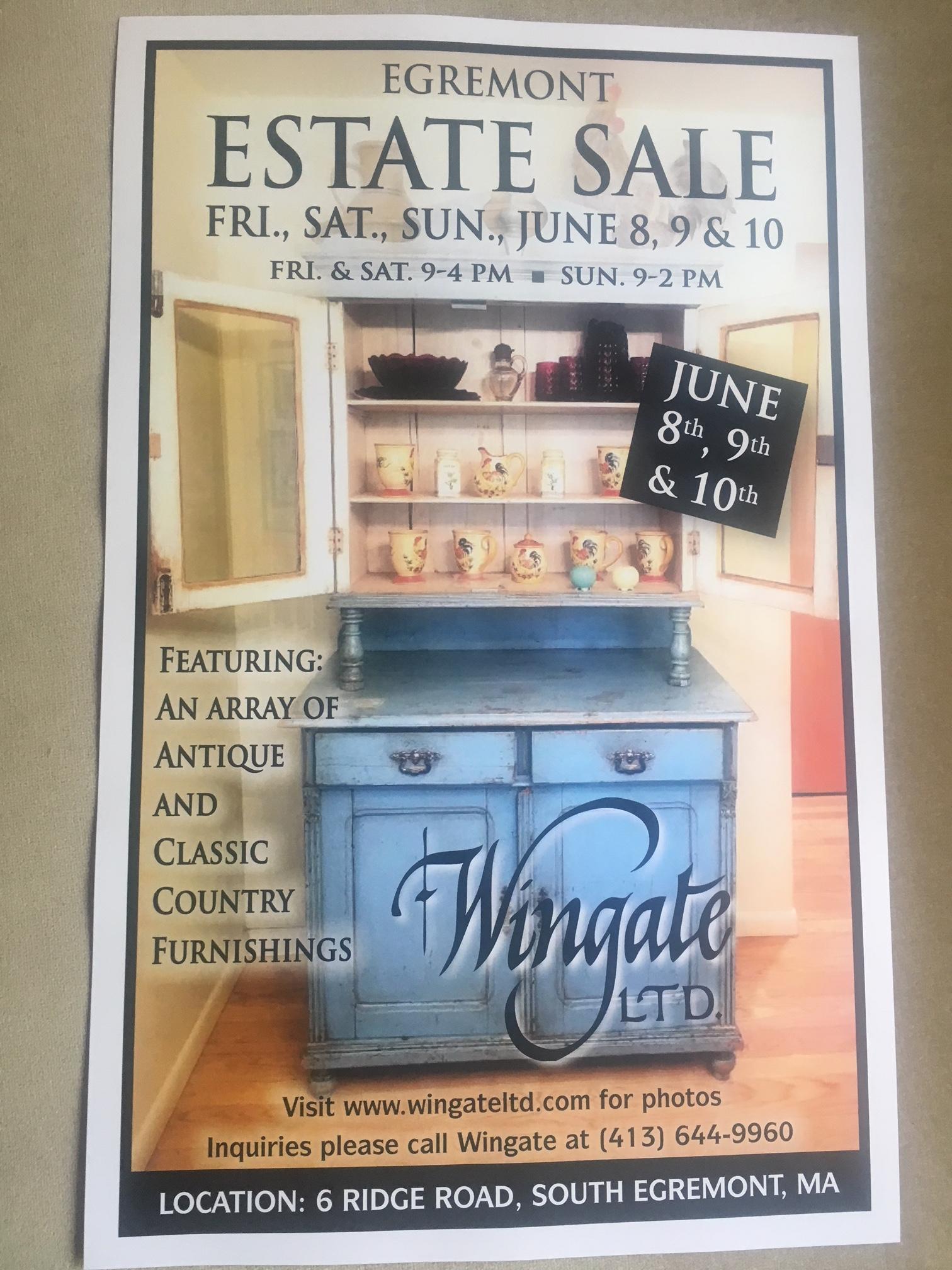 Estate Sale June 8th