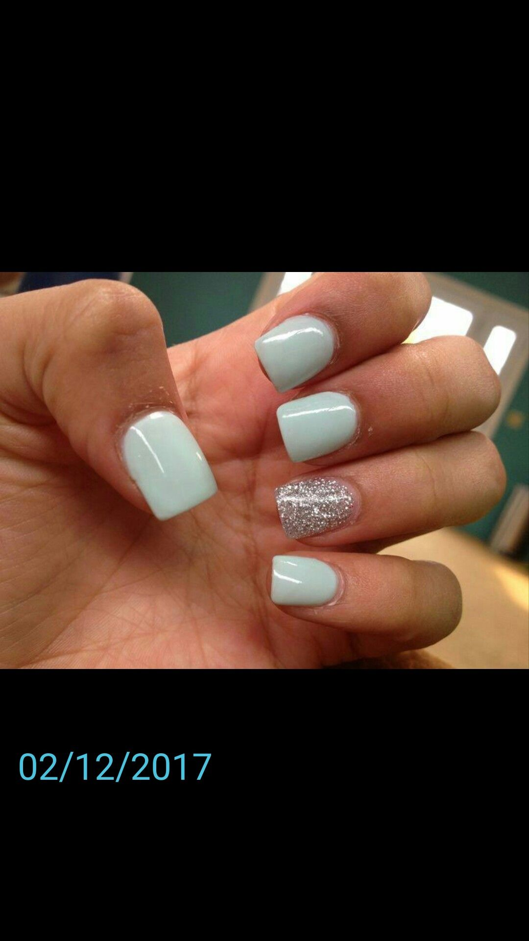 Pin By Natalie Rainey On Nails Cute Acrylic Nails Rounded Acrylic Nails Silver Acrylic Nails