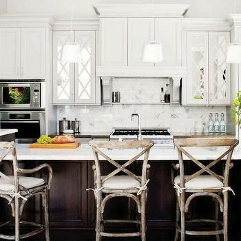 mirrored kitchen cabinets. Mirrored Kitchen Cabinets  Transitional kitchen Style at Home