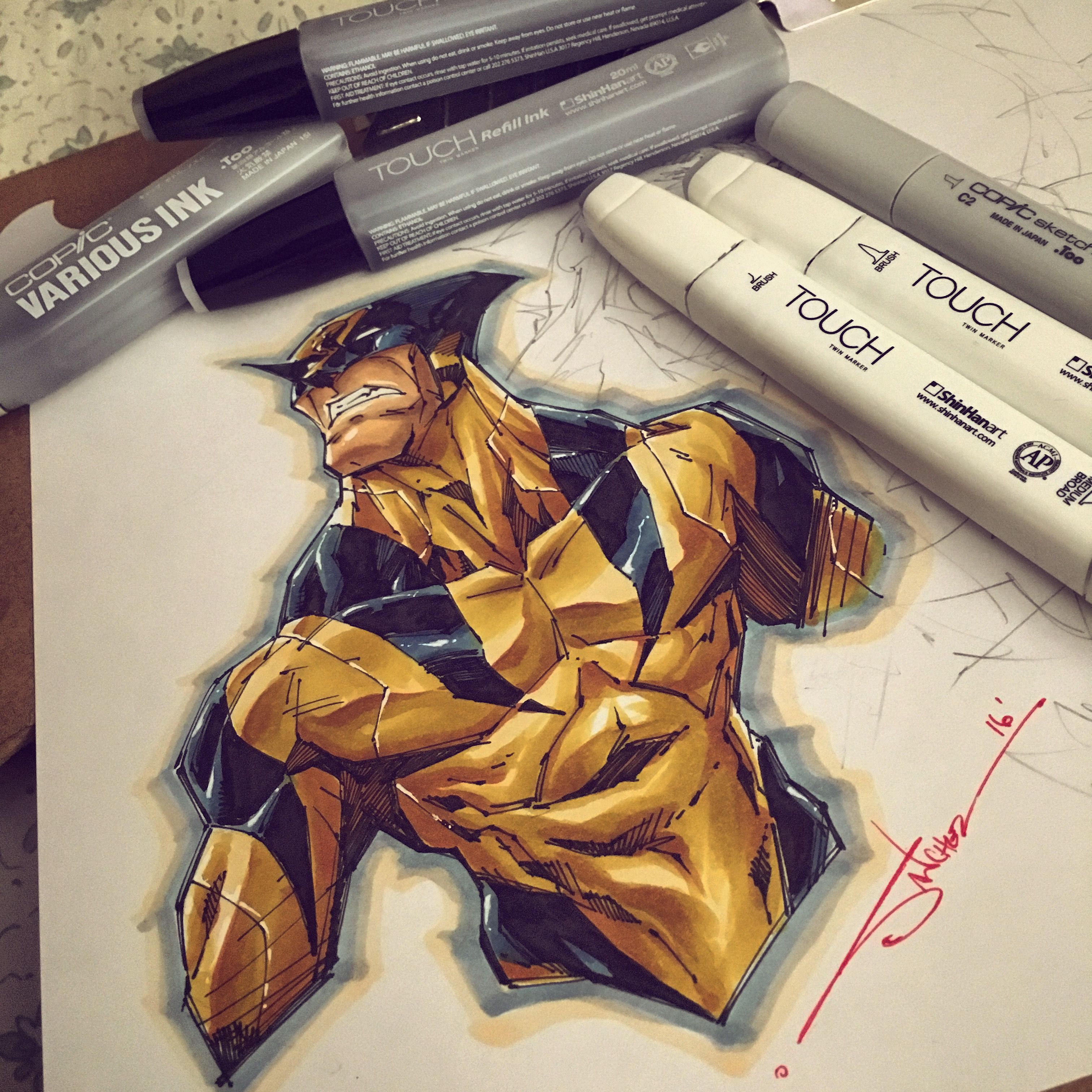 Wolverine Copic Marker Original Art - Thumbnail 1 Marvel