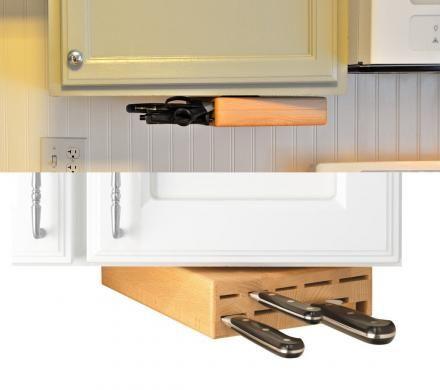 Der Messerblock, der unter dem Schrank hängt und auch noch - küchen luxus design