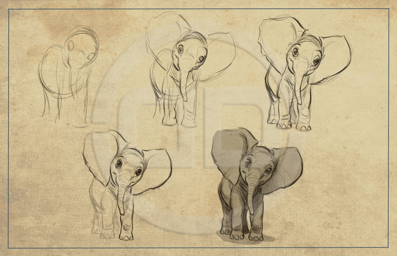 Line Drawings Of African Animals : The art of aaron blaise character design references