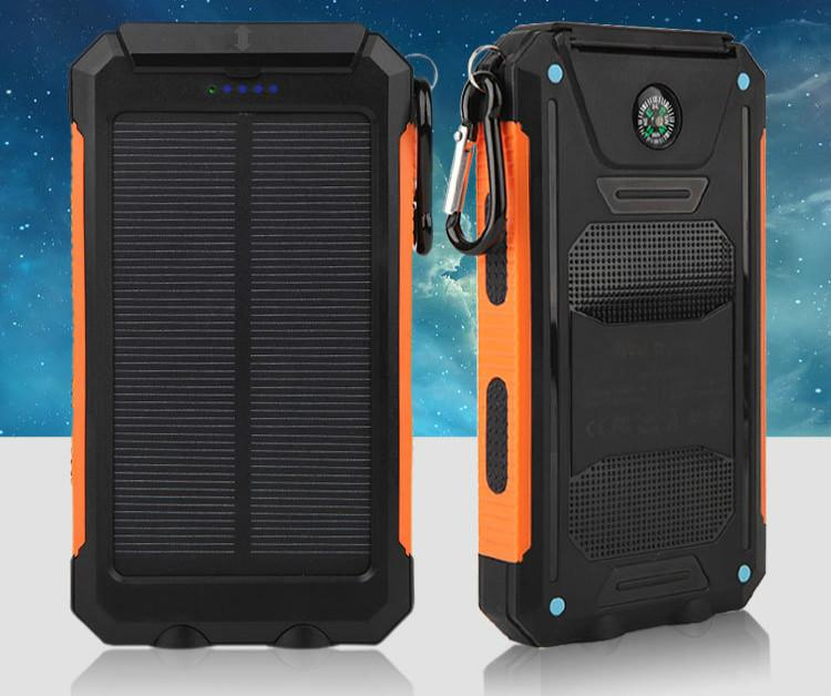 Solar Power Bank Real 20000 Mah Dual Usb External Waterproof Polymer Battery Charger Outdoor Light La Portable Solar Power Solar Power Bank Solar Power Charger