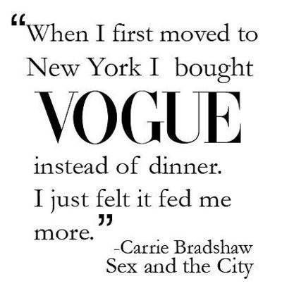 This is the stupidest quote ever. She obviously doesn't really eat.
