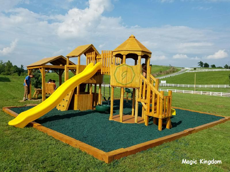 Custom Magic Kingdom with Green Rubber Mulch. | Magic ... on Kingdom Outdoor Living id=98257