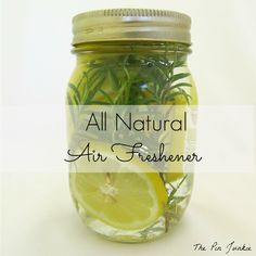 Make your own all natural air freshener.