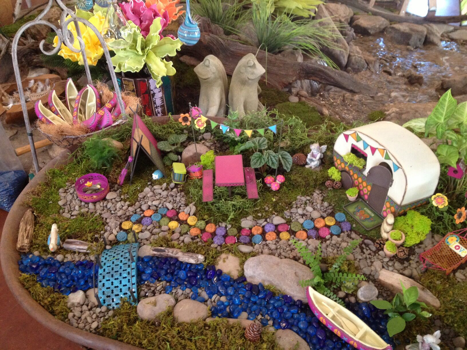 Fairy garden! Fairies love camping!! | MINIATURE GARDENS ...