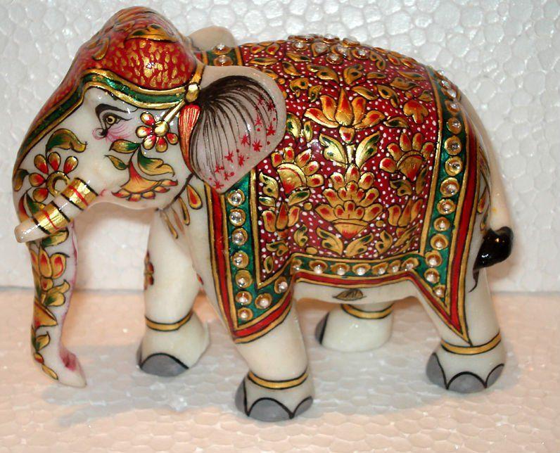 elefante em mármore, feito à mão, na índia