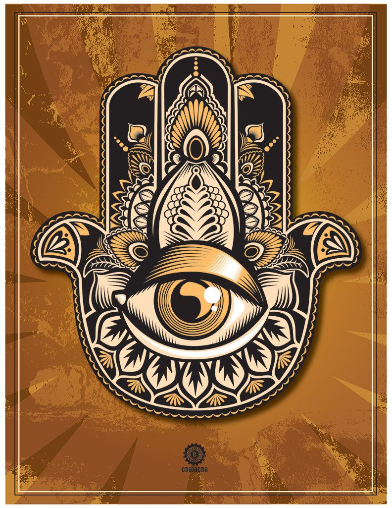 Stylized Hamsa Hand -Protection and Power | Symbolism ...