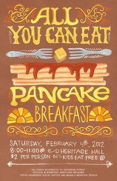 Pancake Feed Flyer  Google Search  Design    Pancakes