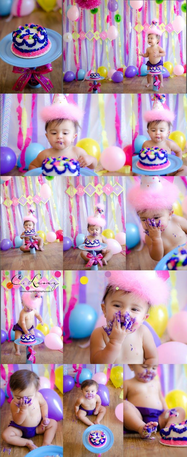 1 Year Old Girl Cake Smash By C Linz Photography Birthday Photography 1st Birthday Pictures Happy First Birthday