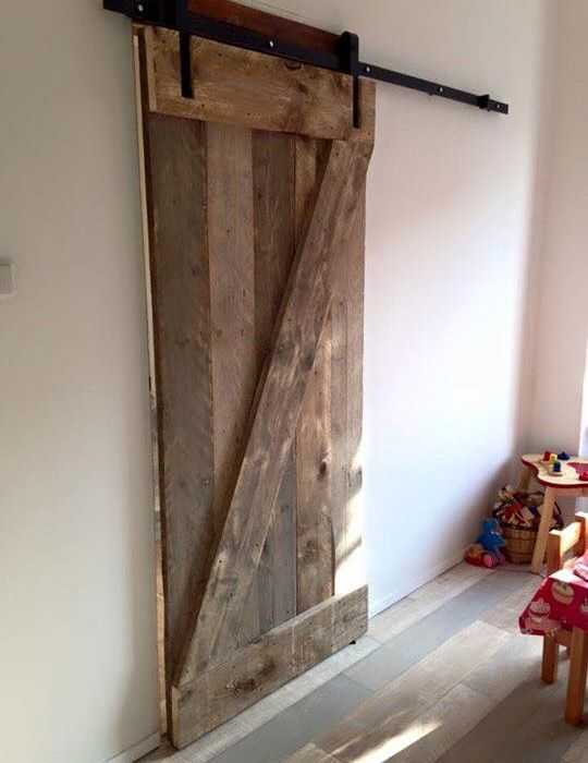 Schuifdeur steigerhout incl bezorging Loftdeur - slaapkamer ...