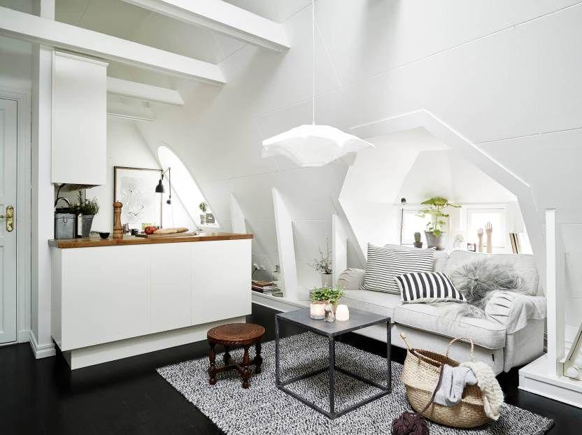 Ático nórdico de 31 m² femenino y cozy