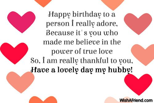 birthday wishes for a husband perfect for me