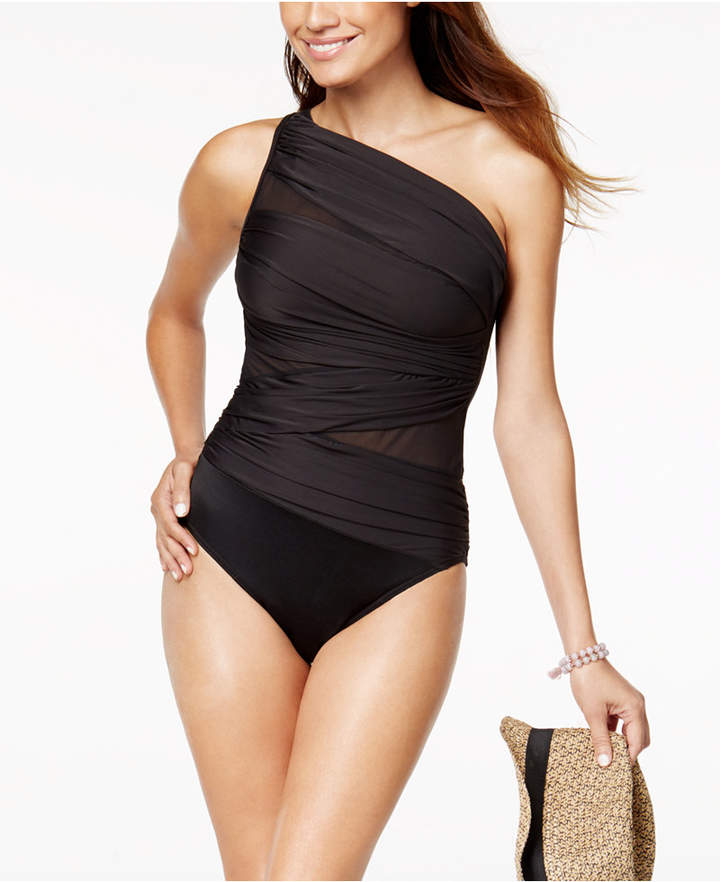 b2342750e2c5e Miraclesuit Network Jena One-Shoulder Allover Slimming One-Piece Women's  Swimsuit
