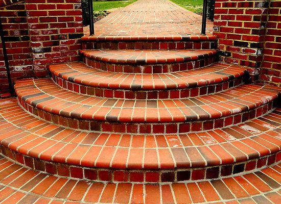 Resultado de imagen para escalera ingreso ladrillo brick - Escaleras de ladrillo ...