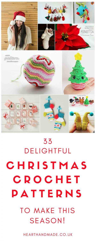 33 Amazing Crochet Patterns To Start Making Today!   Christmas ...