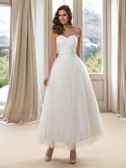 A-Line Sweetheart Ankle-Length Wedding Dress & vintage style Wedding ...