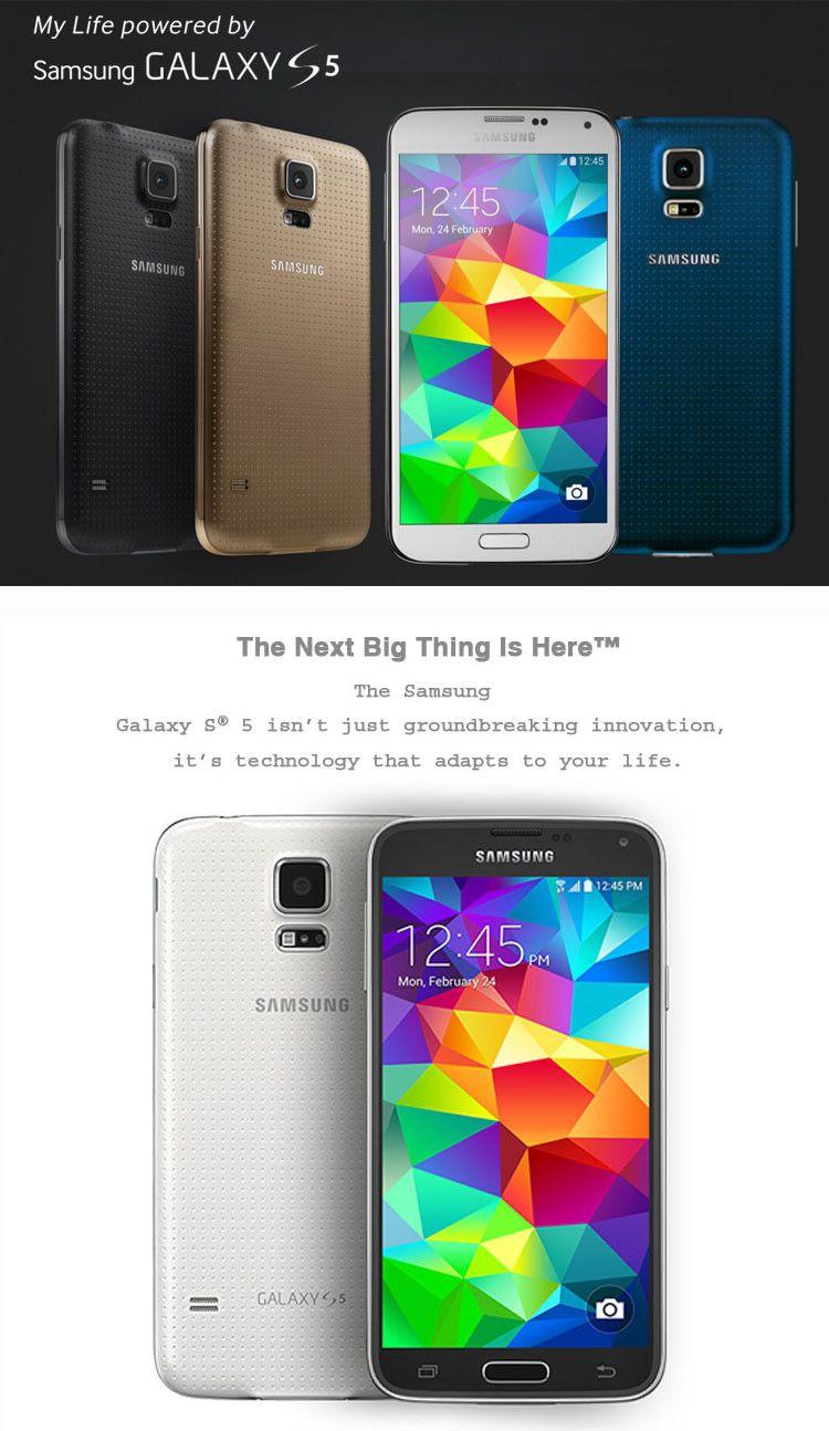 Samsung Galaxy S5 i9600 LTE WCDMA 2GB RAM 16GB ROM G900F 16MP Camera