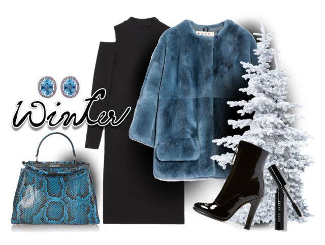 """winter"" by sandevapetq ❤ liked on Polyvore featuring Marni, Valentino, Fendi and Bobbi Brown Cosmetics"